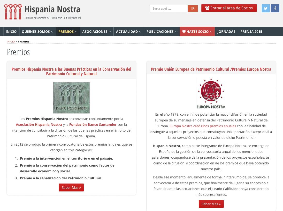 premios hispania nostra