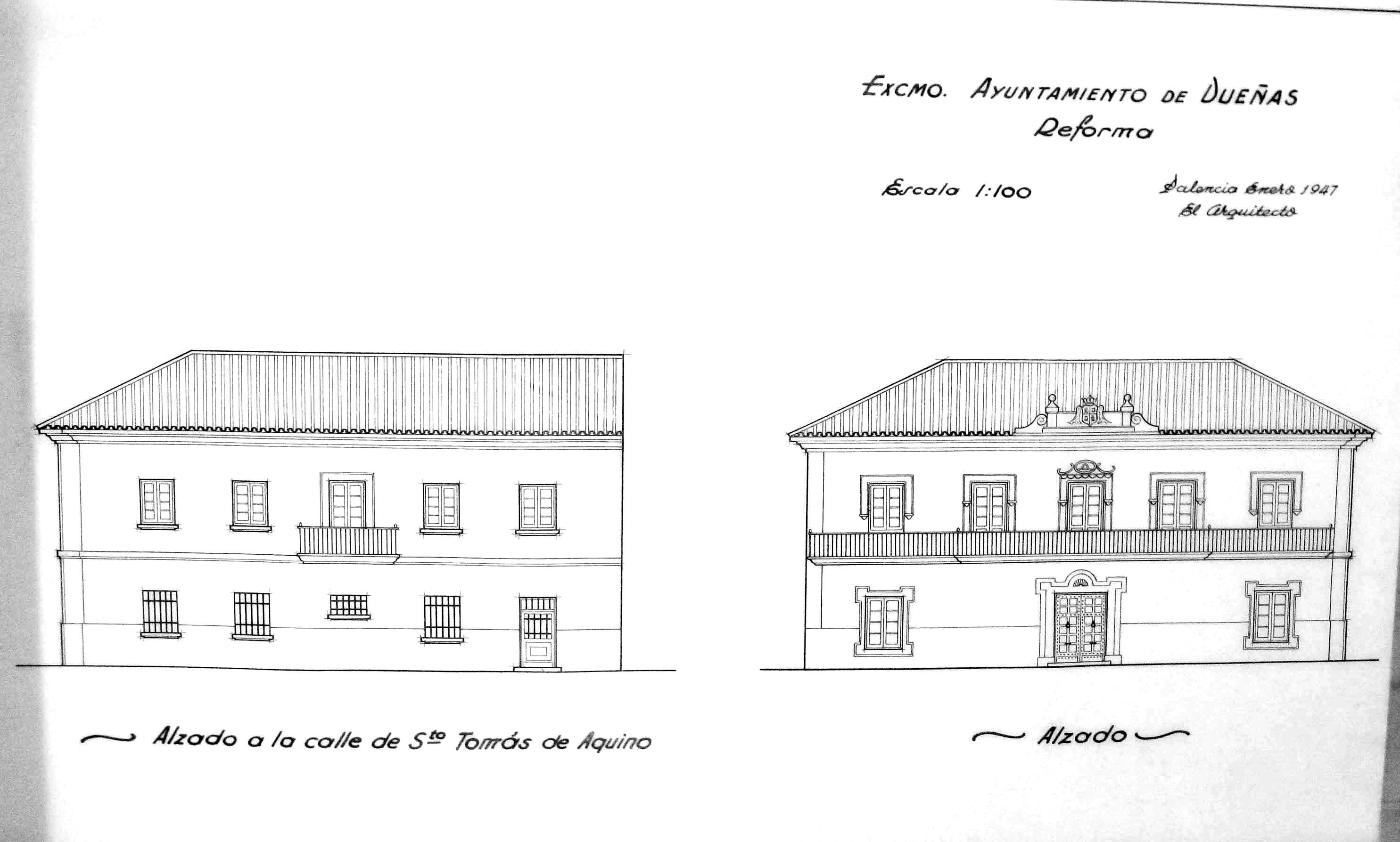 2.Dueñas,Ayuntamiento previsto, 1947, R.82